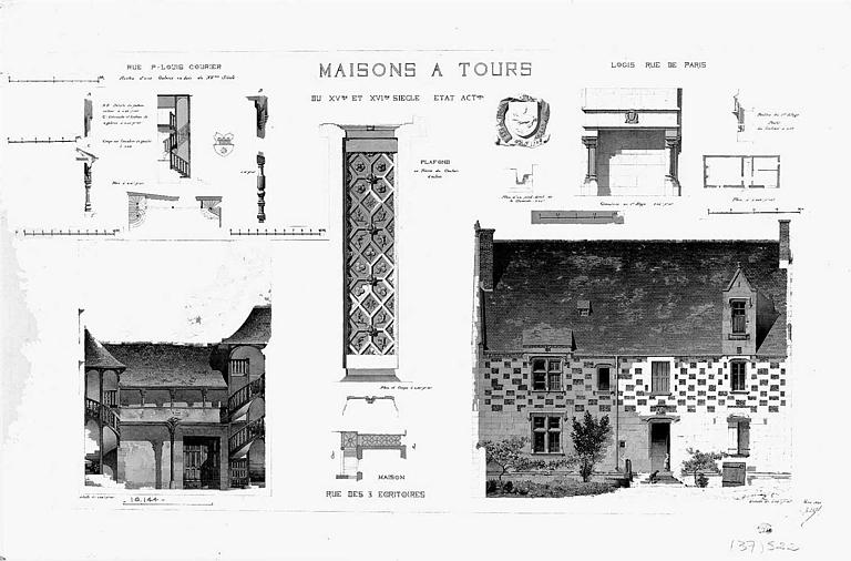Elévations de façades et détails (état actuel)