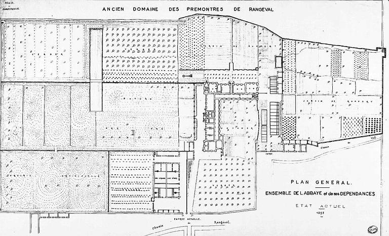 Plan général de l'abbaye et de ses dépendances (état actuel)
