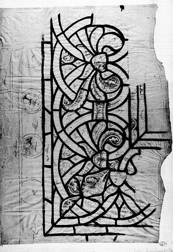 Relevé de bordure de vitrail (calque)