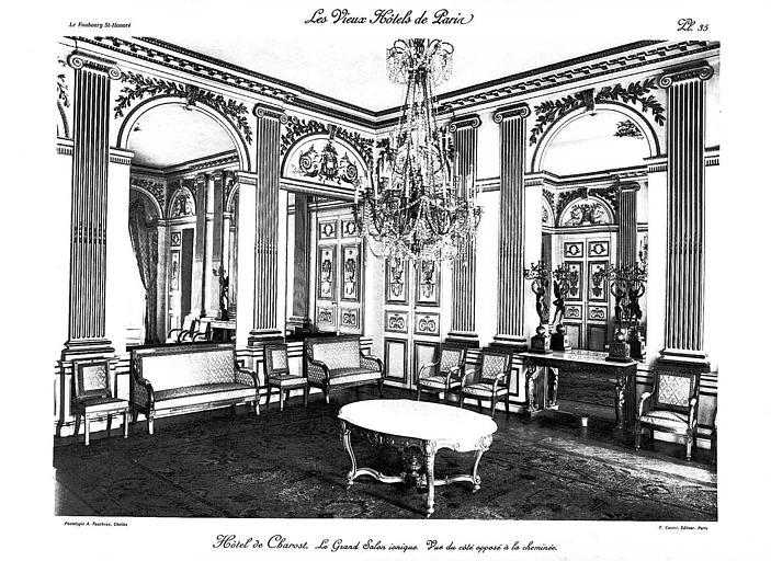 Grand salon ionique du rez-de-chaussée (phototypie)