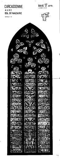 L'Arbre de vie, baie n° 17, panneau de vitrail