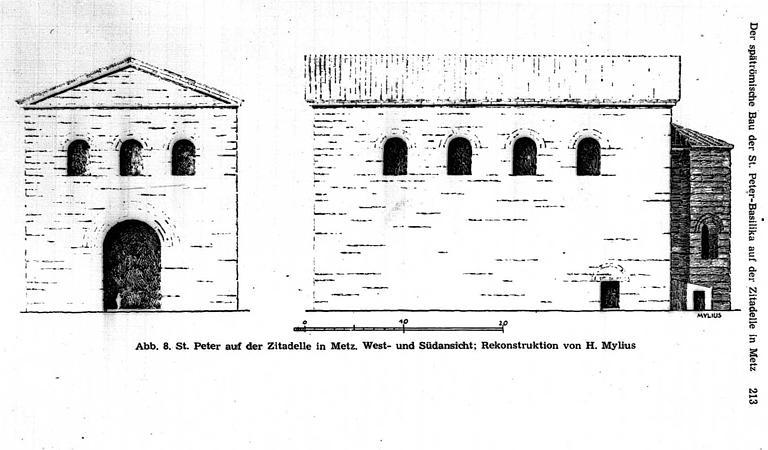 Elévations des façades sud et ouest