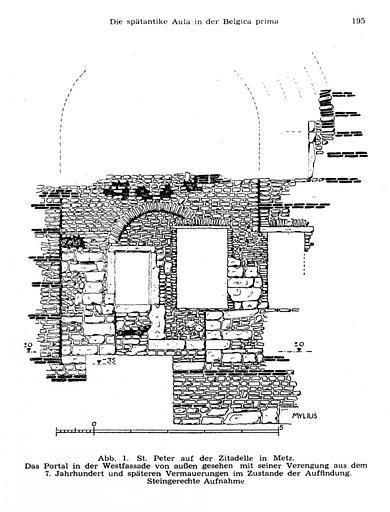 Relevé de l'appareil de la façade ouest