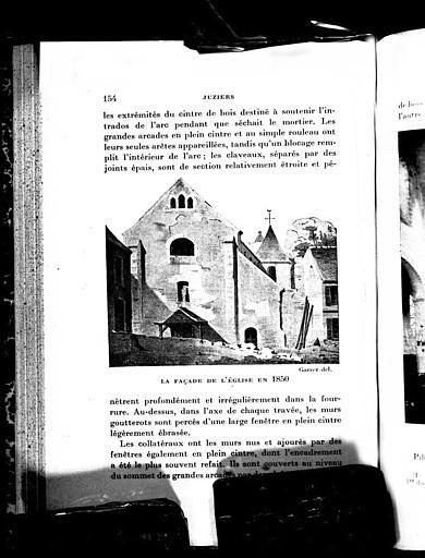 Lithographie : La façade en 1850