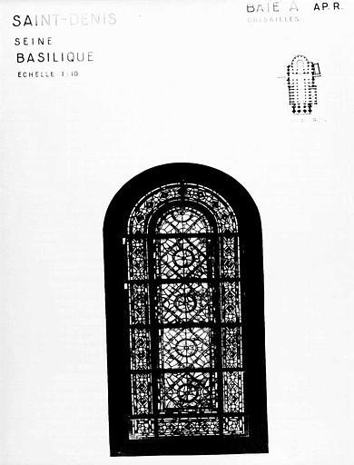 Grisailles, baie A, panneau de vitrail