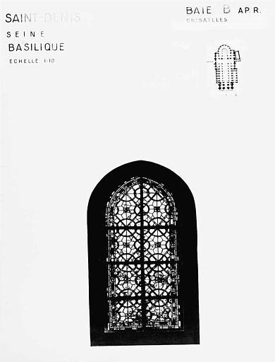 Grisailles, baie B, panneau de vitrail
