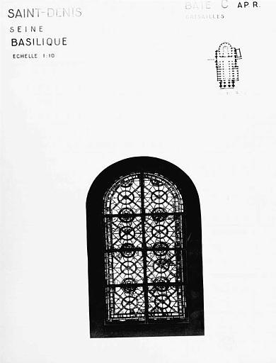 Grisailles, baie C, panneau de vitrail