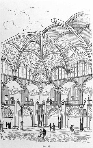 Gravure : Salle de structure empruntée à l'art russe