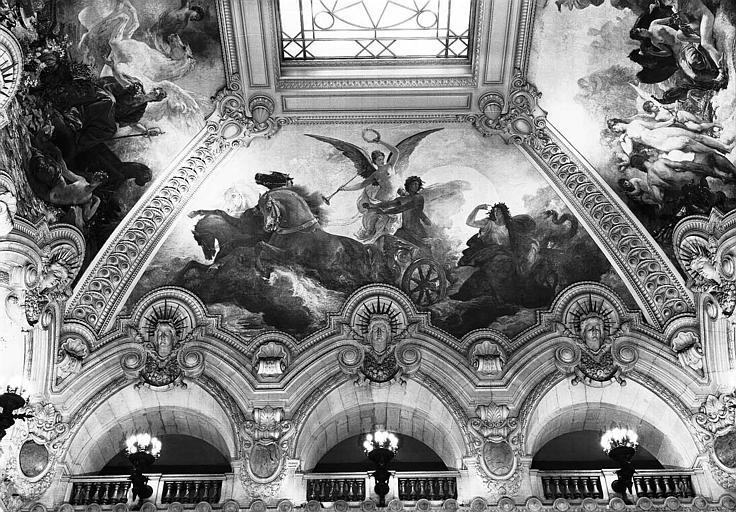 Peinture de la voûte du grand escalier : Le triomphe d'Apollon