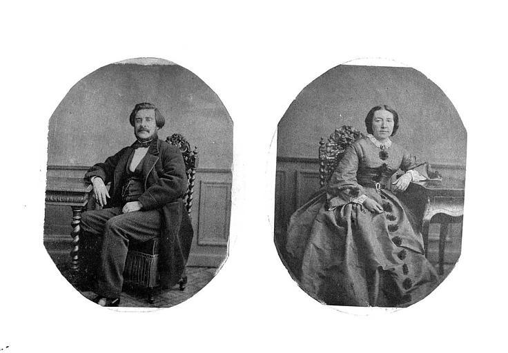 Portrait de Monsieur et Madame Félix Bienaimé Fleurdant