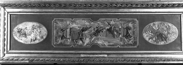 Peinture sur toile : Esquisse pour la décoration du plafond central du Grand Foyer