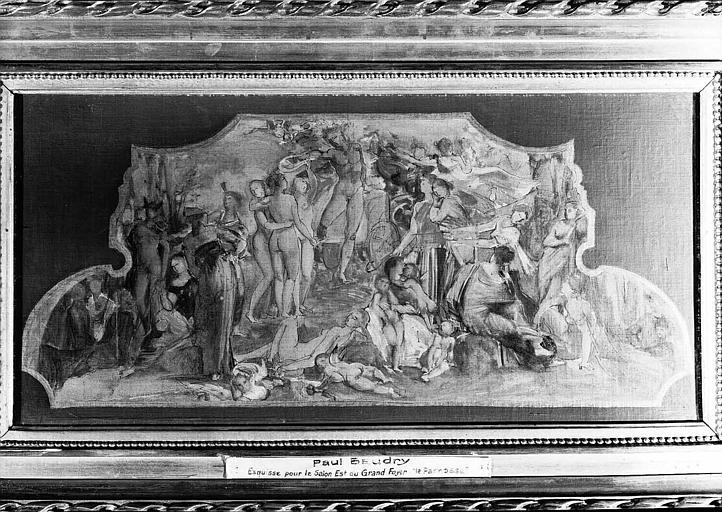 Peinture sur toile : Esquisse pour 'Le Parnasse'  du Grand Foyer