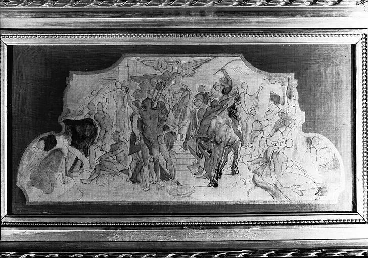 Peinture sur toile : Esquisse pour 'Les Poètes' du Grand Foyer