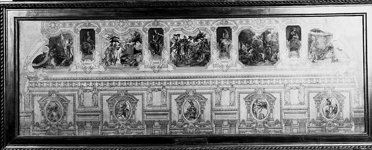Peinture sur toile : Esquisse pour le décor des voussures du Grand Foyer