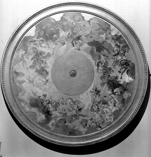 Peinture sur toile : Esquisse pour le plafond de l'Opéra