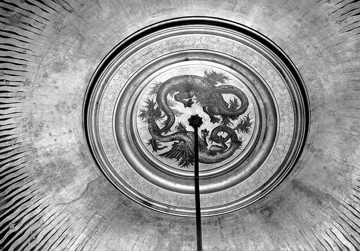 Mosaïque de l'avant-foyer : Anneau central orné de dragons