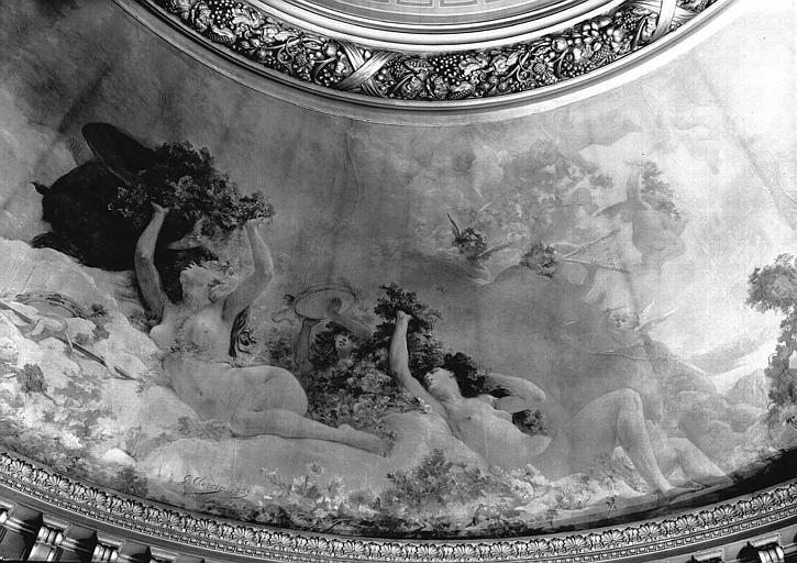Rotonde dite du Glacier : Peinture murale de la coupole (détail)