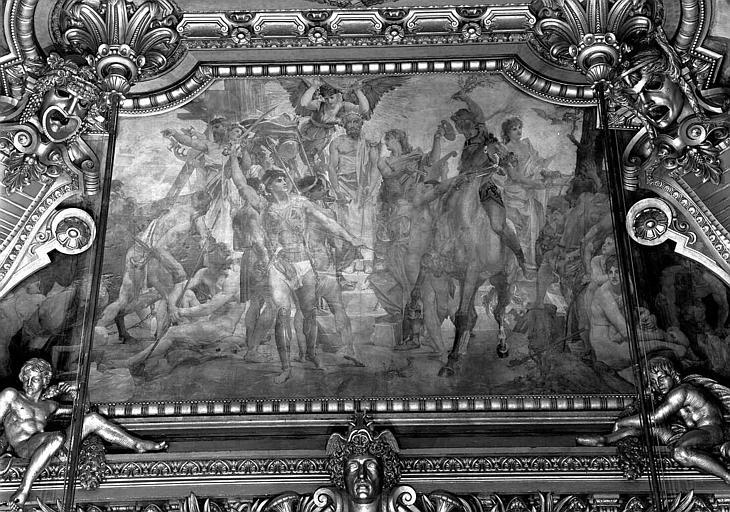 Décor du plafond du Grand Foyer : Les Poètes
