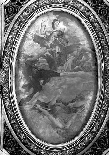 Décor du plafond du Grand Foyer : La Tragédie