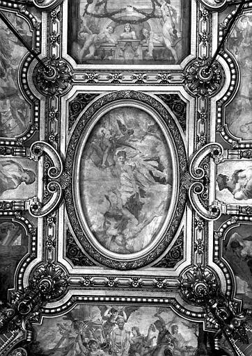 Décor du plafond du Grand Foyer : La Comédie