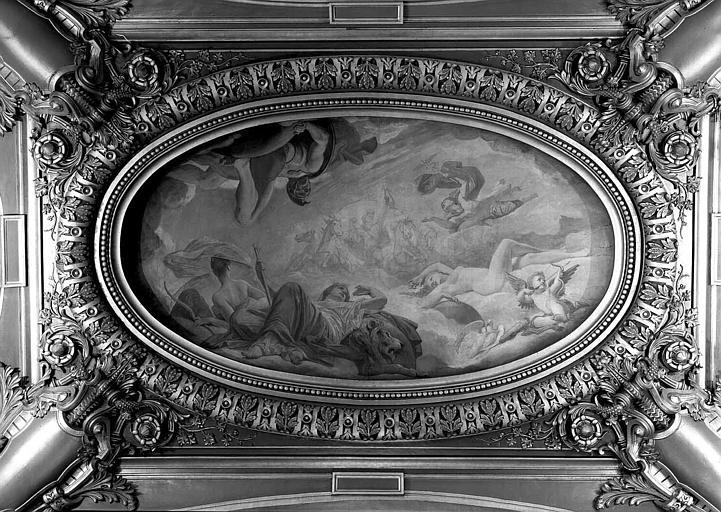 Peinture du salon ouest du Grand Foyer : Orphée au tombeau d'Euridyce, La musique dramatique