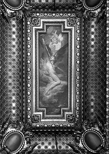 Plafond peint du Grand Foyer : Les instruments à vent