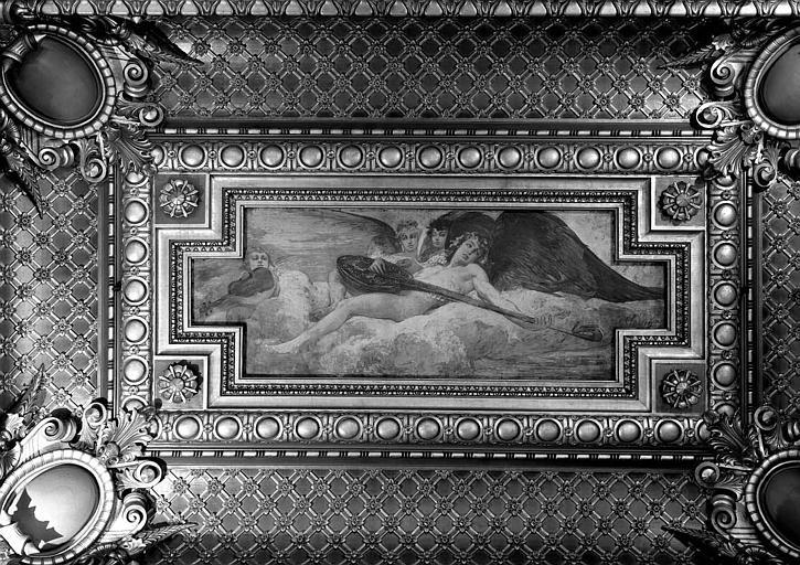 Plafond peint du Grand Foyer : Les instruments à corde