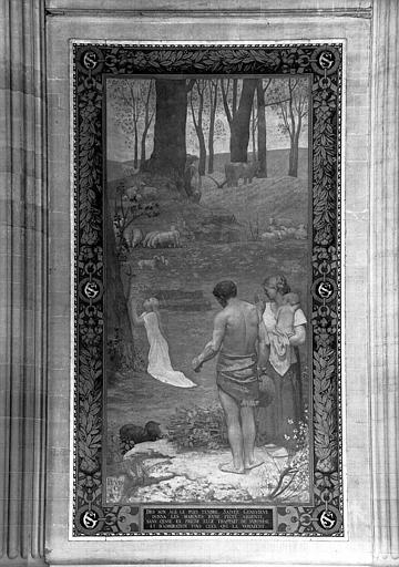 Peinture murale : Jeunesse de sainte Geneviève