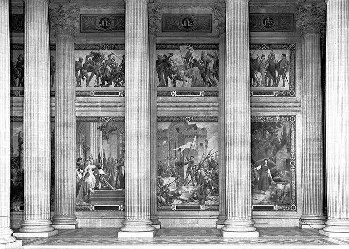 Peinture murale : Vie de Jeanne d'Arc
