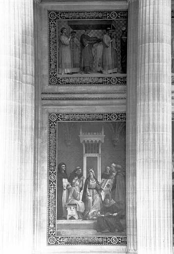 Peinture murale : Education de saint Louis