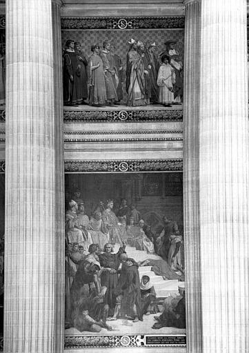 Peinture murale : Saint Louis rendant la justice (partie gauche)