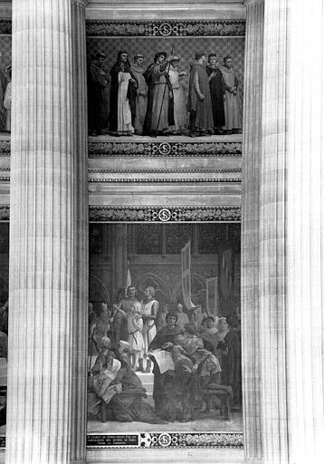 Peinture murale : Saint Louis rendant la justice (partie droite)
