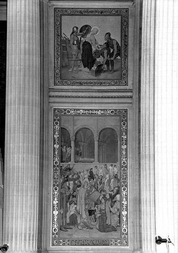 Peinture murale : Procession de la châsse de sainte Geneviève