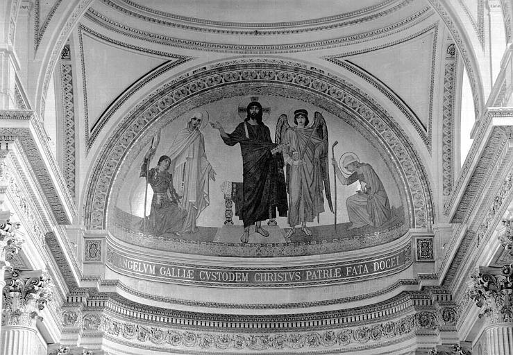 Mosaïque de l'abside : Le Christ montrant à l'ange de la France les destinées de son peuple