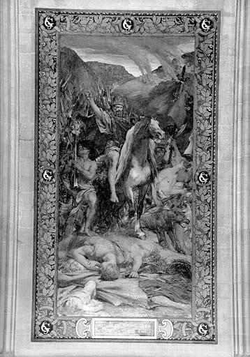 Peinture murale : Attila et son armée en marche sur Paris