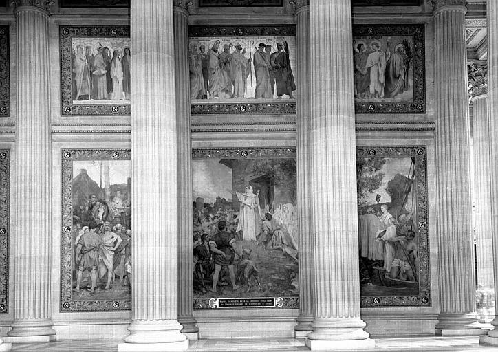 Peinture murale : Sainte Geneviève rend la confiance et le calme aux Parisiens