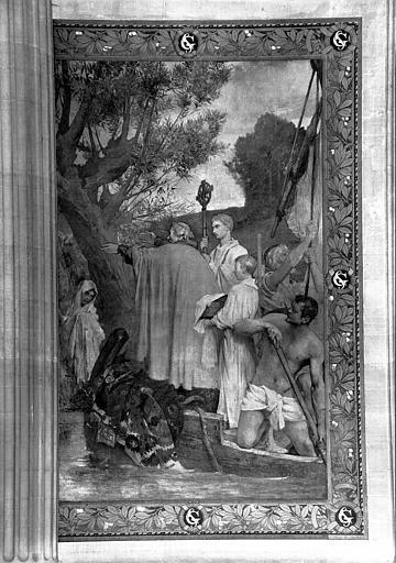 Peinture murale : Sainte Geneviève rend la confiance et le calme aux Parisiens (partie droite)