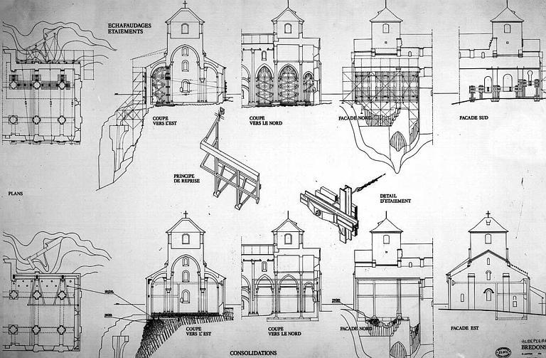 Echafaudages, étaiements et consolidations : Plans, coupes et élévations