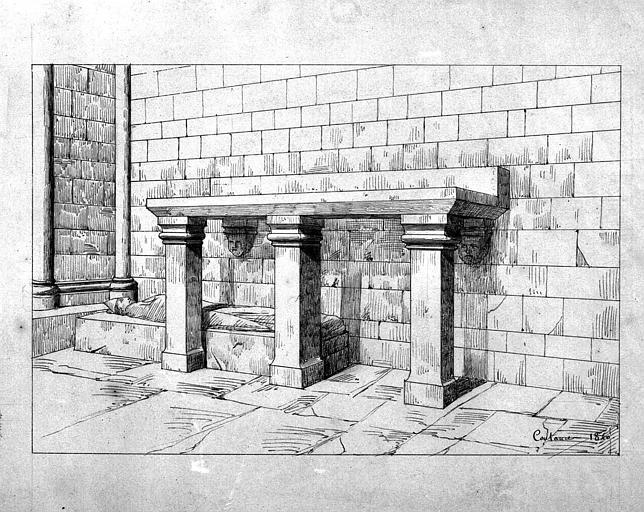 Autel (dessin à la mine de plomb)