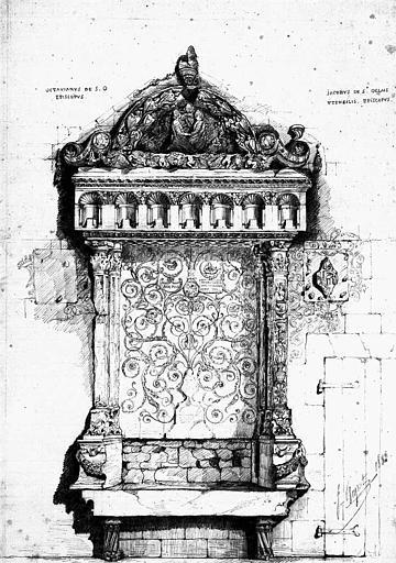 Chapelle Saint-Gelais (dessin mine de plomb)