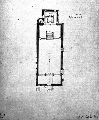 Plan général (dessin mine de plomb aquarellé)