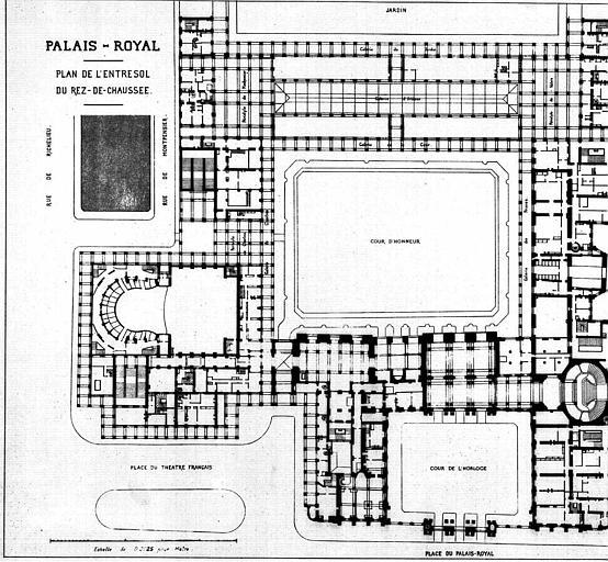 Plan de l'entresol du rez-de-chaussée