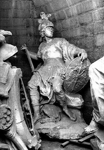 Moulage de la statue de Mars dans la crypte