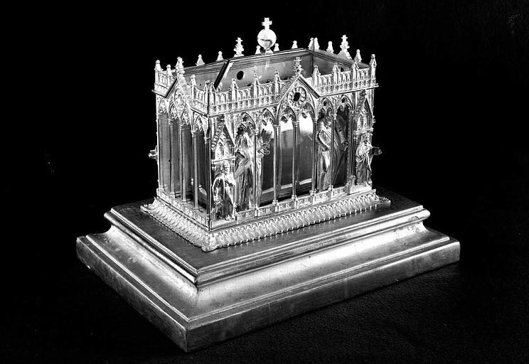 Reliquaire en argent des saints Pierre et Paul (trois-quarts face)