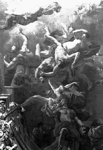 Plafond peint de la salle de bal : Les différents moyens pour un Prince d'accéder à la gloire (détail)