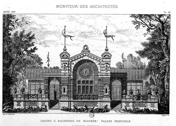 Gravure : Elévation de la façade principale