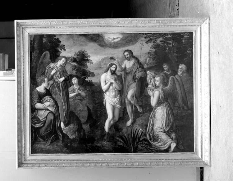 Panneau peint : Baptême du Christ