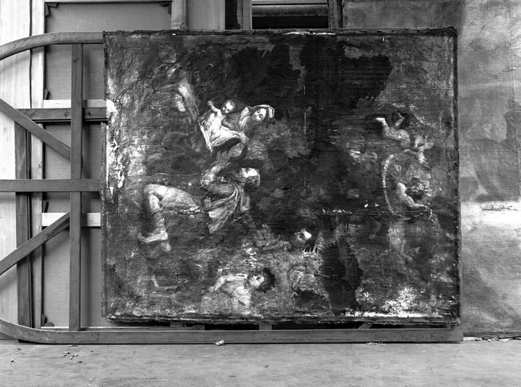 Peinture sur toile du maître-autel : Adoration des bergers