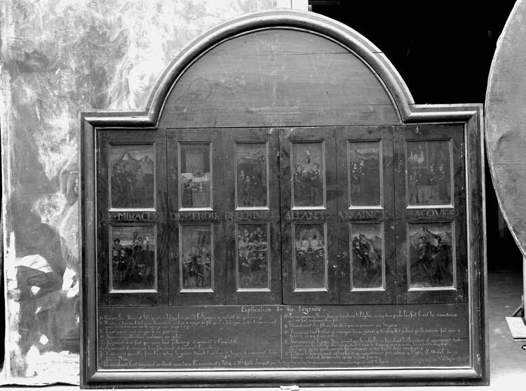 Douze panneaux peints : Le miracle des pélerins de Saint-Jacques
