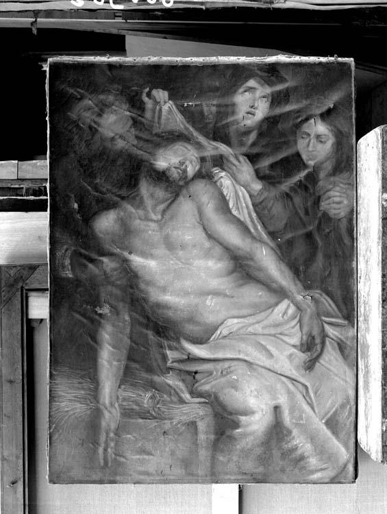 Peinture sur toile : Ensevelissement du Christ